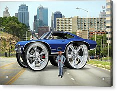 Super Duper Big Wheels Acrylic Print