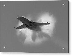Super Hornet Shockwave Bw Acrylic Print
