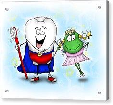 Super Molar And Froggy Tooth Fairy Acrylic Print