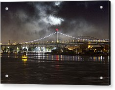 Super Moon And Triboro Bridge Acrylic Print