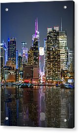 Super Moon At 42nd Street  Acrylic Print