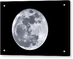 Super Moon Over Arizona  Acrylic Print