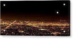 Super Moon Over Phoenix Arizona  Acrylic Print by Susan Schmitz