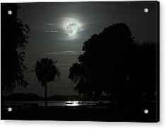 Super Moon Over Wimbee Creek Acrylic Print