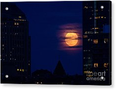 Acrylic Print featuring the photograph Super Moon Rises by Mike Ste Marie