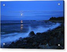 Super Moon Rising Over The Atlantic Acrylic Print