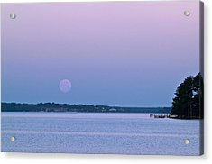 Super Moon Setting-1 Acrylic Print