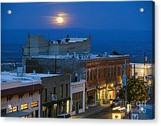 Super Moonrise Over Jerome Arizona Acrylic Print