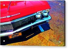 Super Sport 3 - Chevy Impala Classic Car Acrylic Print by Sharon Cummings