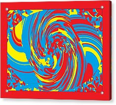 Acrylic Print featuring the painting Super Swirl by Catherine Lott