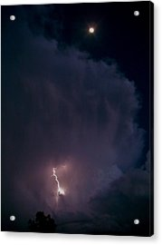 Supercell Moon Acrylic Print by Ed Sweeney