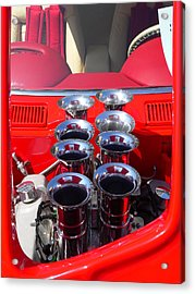 Acrylic Print featuring the photograph Supercharged Engine by Jeff Lowe