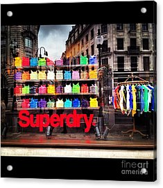 Superdry. Acrylic Print by Carly Athan