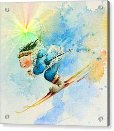 Superg Speed Acrylic Print by Hanne Lore Koehler