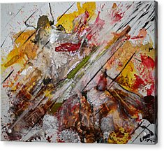 Acrylic Print featuring the painting Superhero Meltdown by Lucy Matta