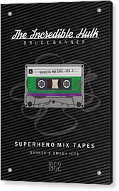 Superhero Mix Tapes - The Incredible Hulk Acrylic Print by Alyn Spiller