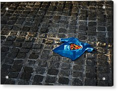 Superhero Acrylic Print by Tim Gainey
