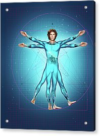 Superhumans Acrylic Print by Smetek