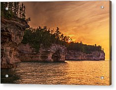 Superior Cliffs At Sunset Acrylic Print