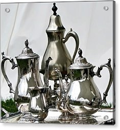 Superior Officers Silverware And Tea Service From  The Stoney Creek War Of  1812 Acrylic Print by Danielle  Parent