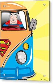 Superman 4 Acrylic Print by Mark Ashkenazi