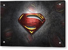 Superman Man Of Steel Digital Artwork Acrylic Print