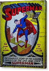 Superman Acrylic Print by Mitch Shindelbower