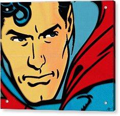Superman Pop Acrylic Print by Tony Rubino