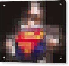Superman Acrylic Print by Tony Rubino