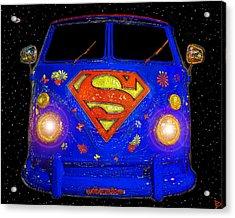 Superman Was A Hippie Acrylic Print