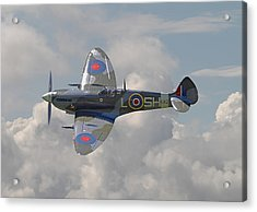 Supermarine Spitfire Acrylic Print by Pat Speirs