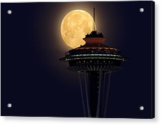 Supermoon 2012 Acrylic Print by Quynh Ton