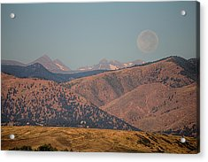 Supermoon Over Colorado Rocky Mountains Acrylic Print by James BO  Insogna