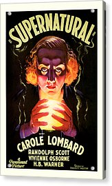 Acrylic Print featuring the mixed media Supernatural 1933 by Presented By American Classic Art