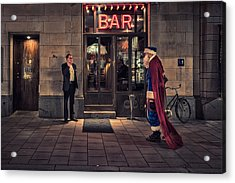 Supersanta Acrylic Print by Martin Johansson