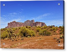 Superstition Mountains Arizona - Flat Iron Peak Acrylic Print