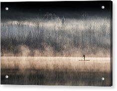 Suping On Bohinj Lake Acrylic Print
