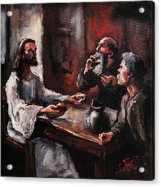 Supper At Emmaus Acrylic Print by Carole Foret