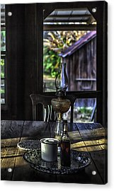 Suppertime In A 1850s Cracker Kitchen Acrylic Print by Lynn Palmer