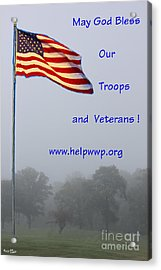 Support Our Troops And Veterans Acrylic Print
