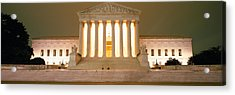 Supreme Court Building Illuminated Acrylic Print by Panoramic Images