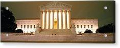 Supreme Court Building Illuminated Acrylic Print