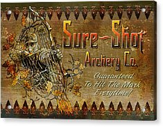 Sure Shot Archery Acrylic Print by JQ Licensing