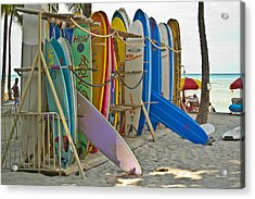 Surf Boards Acrylic Print by Matt Radcliffe