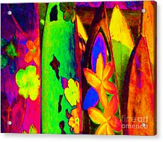 Surf Boards V2 Acrylic Print by Wingsdomain Art and Photography
