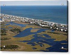 Surf City North Carolina Aerial Acrylic Print by Betsy Knapp