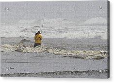 Surf Fishing Enthusiast Acrylic Print by Tom Janca
