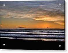 Acrylic Print featuring the photograph Surf Fishing by Michael Gordon