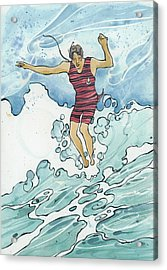 Surf Leap Acrylic Print
