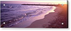Surf On Beach, Sitges, Barcelona Acrylic Print by Panoramic Images